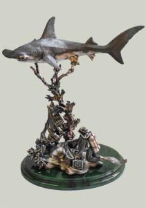 Дайвинг, акула молот